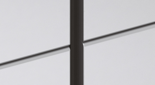 Q2 - 20mm vertical joint with push-in EPDM gasket, 0mm horizontal joint