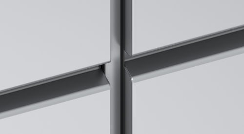 Q2a - 20mm vertical joint with alu profile, 20mm horizontal joint