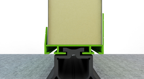 THERMALsafe top and bottom profile_option with a panel cut_FR