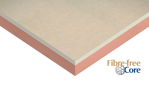 Insulated plasterboard render
