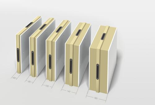 Epaisseurs de panneaux pour chambre froide modulaire