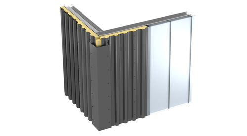 Box Profiled Insulated Wall Panel KS1000 FC Render