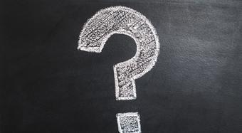 question mark blackboard