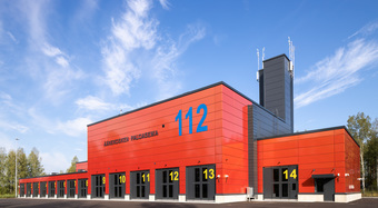 Evolution, modular facades, kingspan facades, finland, fire station design