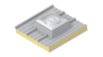 Render_ upstand_roof light dome_DE