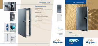 Chladiarenské dvere závesné, jednokrídlové