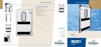Servisné kývne dvere jednokrídlové