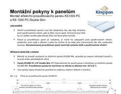 Montážne pokyny KS 1000 PC a PC Double Skin
