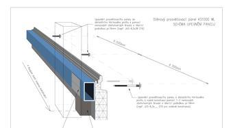 stenový presvetľovací panel KS1000 WL - schéma upevnenia