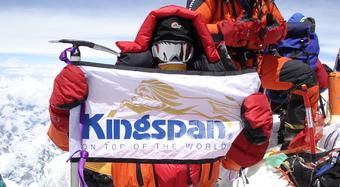 111 Kingspan Flag  Flag on Summit