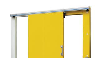 Kingspan sárga Fagyasztótéri tolóajtó renderelt képe