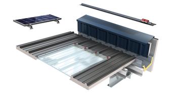 Trapezoidal Roof Panel BIM Objects | KS1000 RW