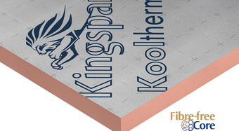 Kingspan Kooltherm – fire resistant, responsibly sourced phenolic insulation with a low thermal conductivity and fibre free core