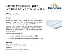 KS1000 PC a PC Double Skin - Technický list CZ_2016-page-001
