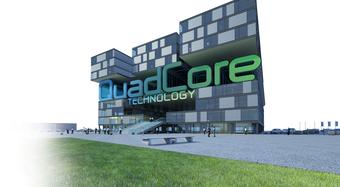 QuadCore Building ground_CEER , QuadCore Wandelemente, quad core, quad core Wandpaneele, quadcore Dachpaneele